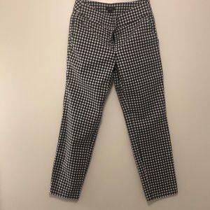 Ann Taylor Loft B & W Gingham Ankle Trousers